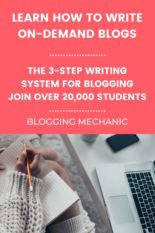 3-Step Writing System: Blogging & Writing Secrets. A Blogging Course to