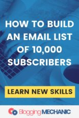 FREE Email List Building to course with a target of gaining 10,000 Subscribers in 90 days.