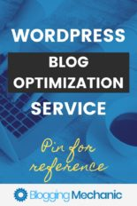 Blog Optimization Service.  Speed your blog up.