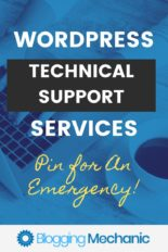 WordPress Technical Support - Contact the Blogging Mechanic