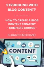 How to create a Blog content strategy.A Course with Tips & Template Framework for Blogging Success