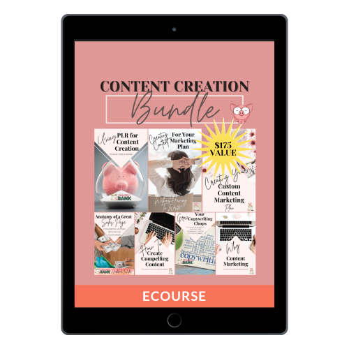 Content Creation Bundle: Learn & Earn with these Done-For-You products including private label rights