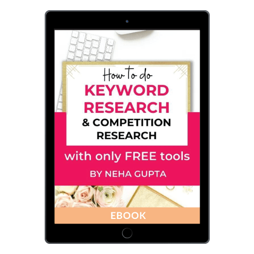 How to do keyword research & Competition research using ONLY FREE tools