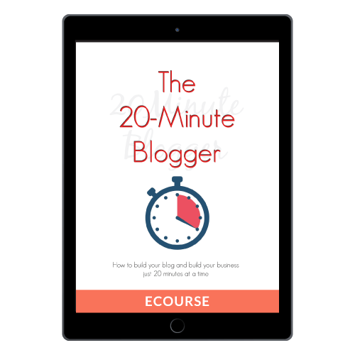 The 20-Minute Blogger